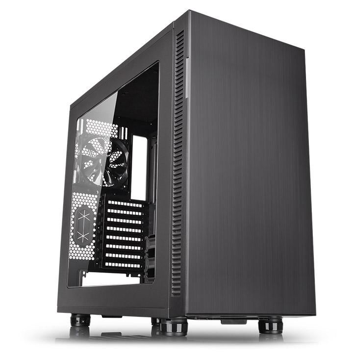 Корпус ATX THERMALTAKE Suppressor F31 WIN, Midi-Tower, без БП,  черный