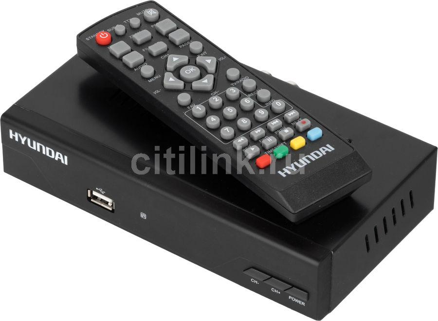 Ресивер DVB-C HYUNDAI H-DVB840,  черный