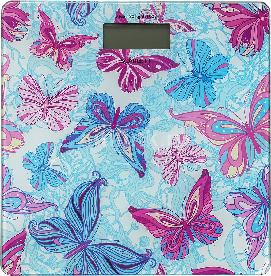 Напольные весы SCARLETT SC-BS33E079, до 180кг, цвет: голубой/рисунок [sc - bs33e079]