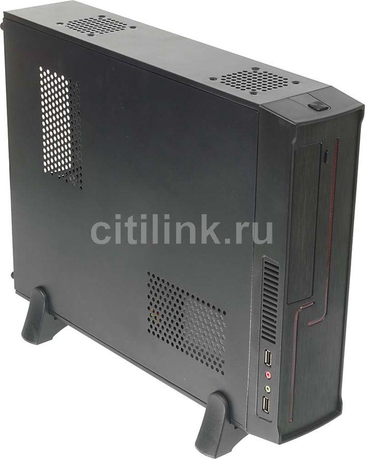 Корпус mATX FORMULA R-121B, HTPC, 400Вт,  черный и красный