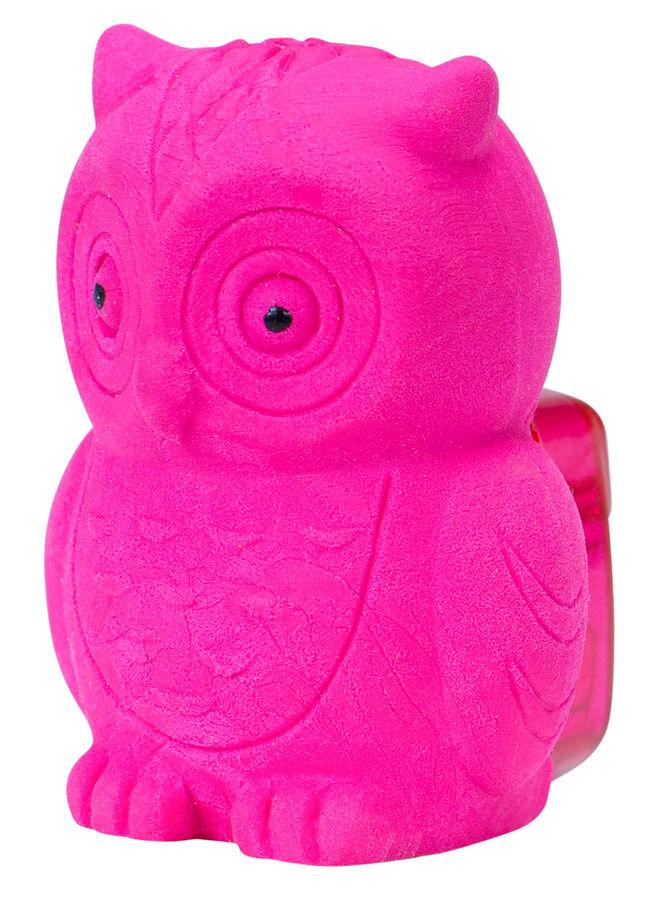 Ластик Silwerhof Сова 181128 Цветландия фигурный розовый с точилкой