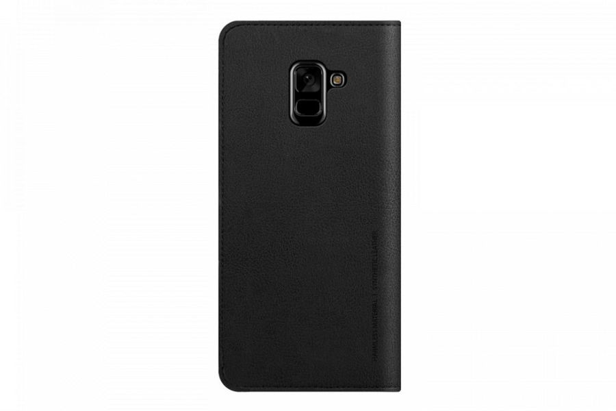 Чехол (флип-кейс) SAMSUNG Designed Mustang Diary, для Samsung Galaxy A8+, черный [gp-a730kdcfaia]
