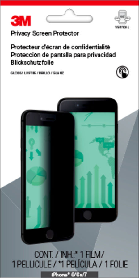 Пленка защиты информации для экрана 3M MPPAP001  для Apple iPhone 6/6S/7,  1 шт [7100042779]