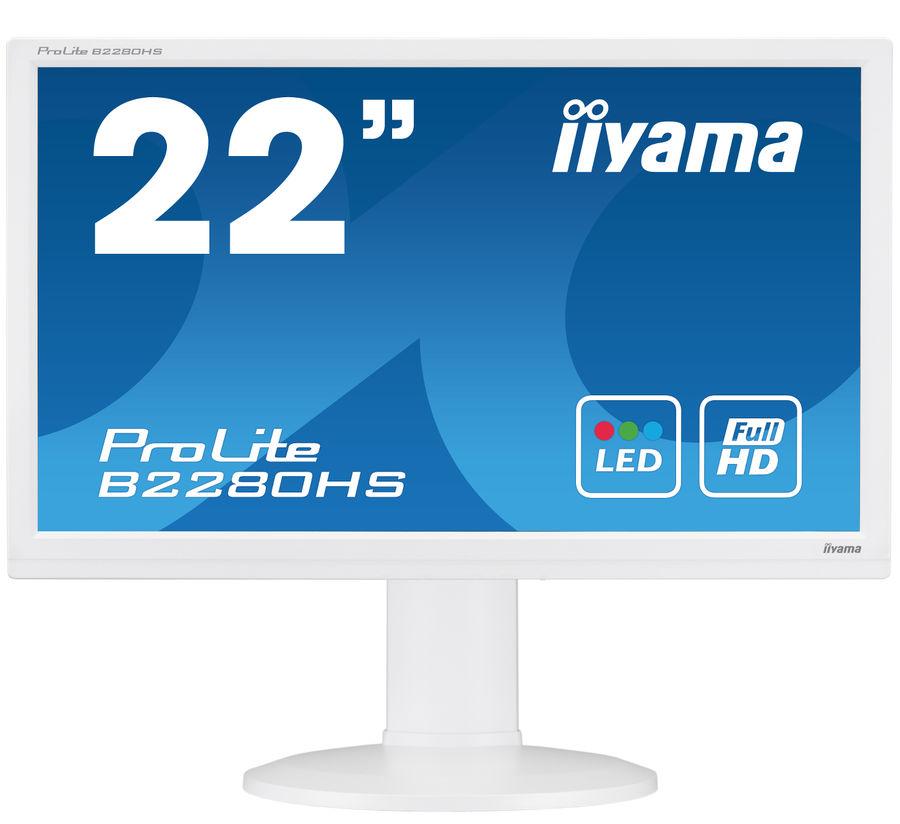 "Монитор ЖК IIYAMA ProLite B2280HS-W1 21.5"", белый"