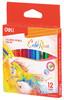 Карандаши цветные Deli EC00400 ColoRun трехгран. тополь 12цв. короткие коробка/европод. вид 1