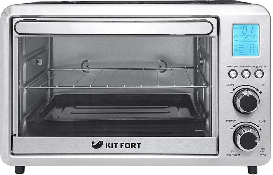 Электропечь KITFORT КТ-1705,  серебристый