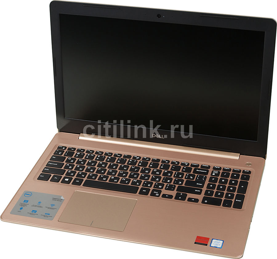 Ноутбук DELL Inspiron 5570, 15.6, Intel Core i3 6006U 2.0ГГц, 4Гб, 256Гб SSD, AMD Radeon R530 - 2048 Мб, DVD-RW, Windows 10, 5570-2905, золотистыйНоутбуки<br>экран: 15.6;  разрешение экрана: 1920х1080; процессор: Intel Core i3 6006U; частота: 2.0 ГГц; память: 4096 Мб, DDR4, 2400 МГц; SSD: 256 Гб; AMD Radeon R530 - 2048 Мб; DVD-RW; WiFi;  Bluetooth; HDMI; WEB-камера; Windows 10<br><br>Линейка: Inspiron