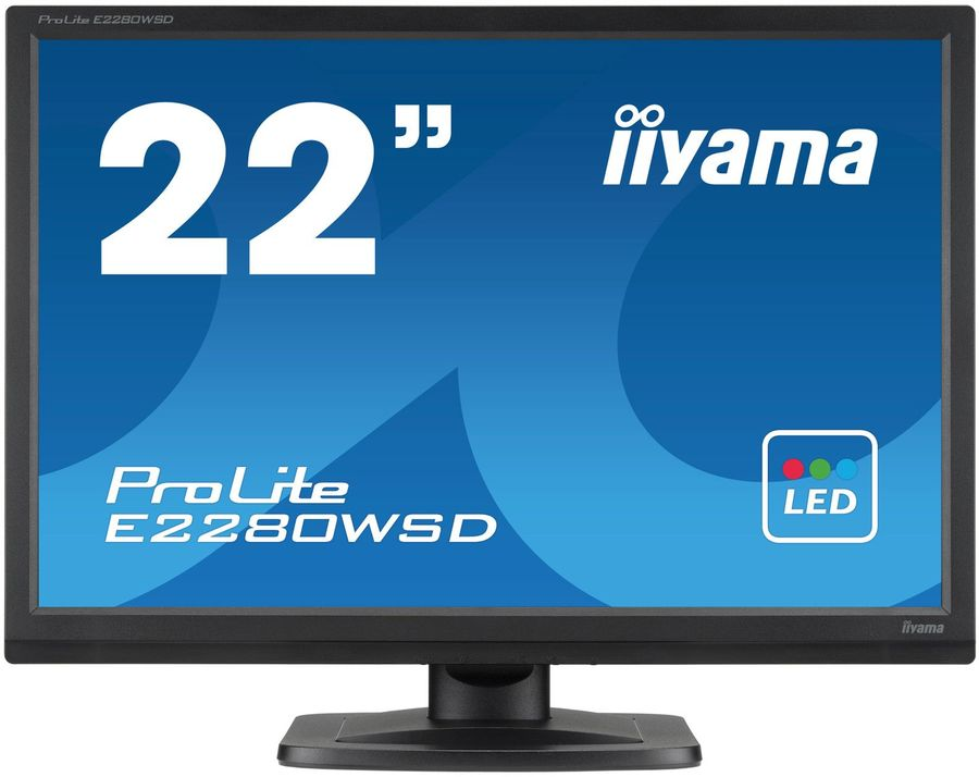 "Монитор ЖК IIYAMA ProLite E2280WSD-B1 22"", черный"