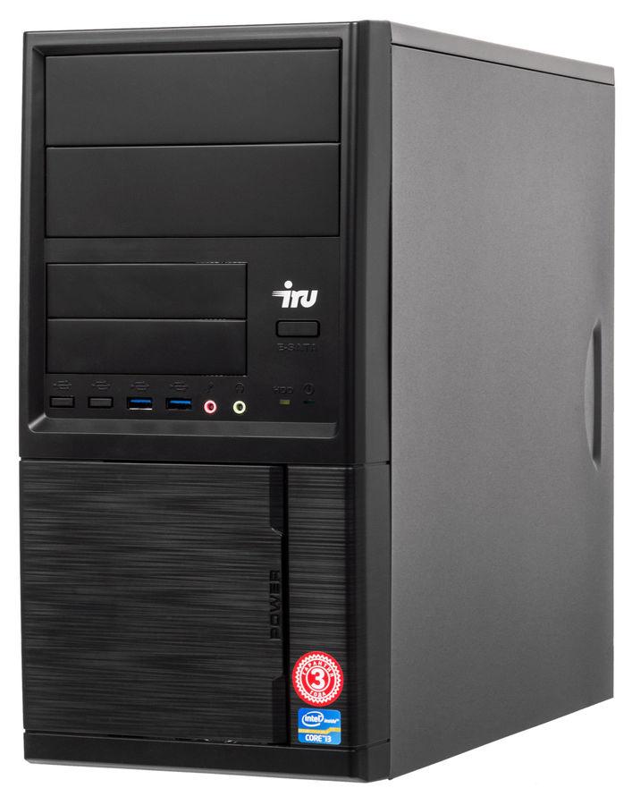 Компьютер  IRU Home 313,  Intel  Core i3  7100,  DDR4 4Гб, 1000Гб,  NVIDIA GeForce GT710 - 2048 Мб,  Windows 10 Home,  черный [1027726]