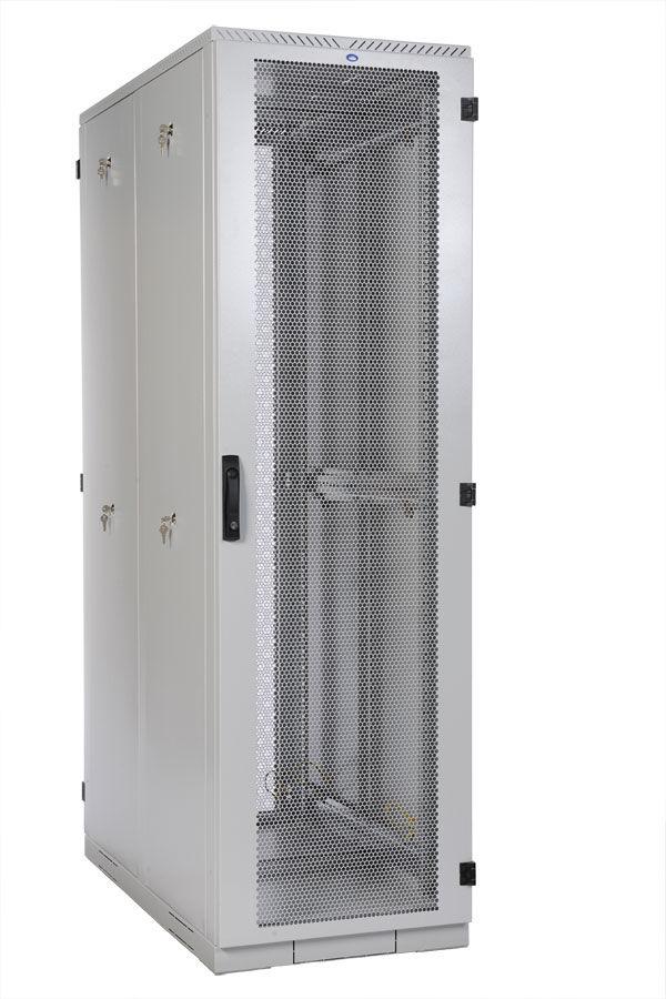 Шкаф серверный ЦМО (ШТК-С-42.8.12-44АА) 42U 800x1200мм пер.дв.перфор. 4 бок.пан. 1000кг серый