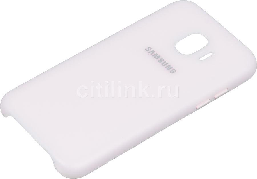 Чехол (клип-кейс) SAMSUNG Dual Layer Cove, для Samsung Galaxy J2 (2018), розовый [ef-pj250cpegru]