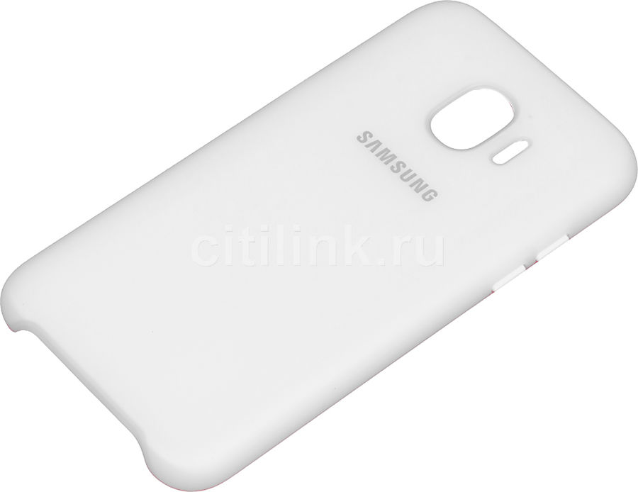 Чехол (клип-кейс) SAMSUNG Dual Layer Cove, для Samsung Galaxy J2 (2018), белый [ef-pj250cwegru]