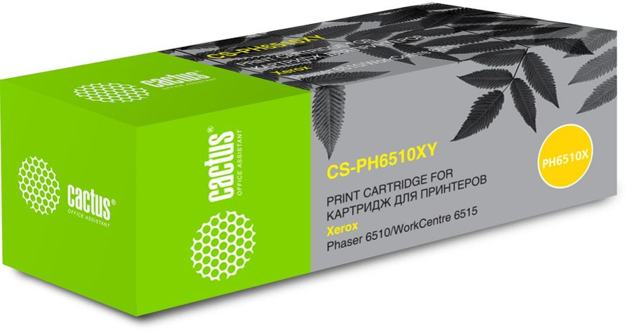 Картридж CACTUS 106R03695 желтый [cs-ph6510xy]