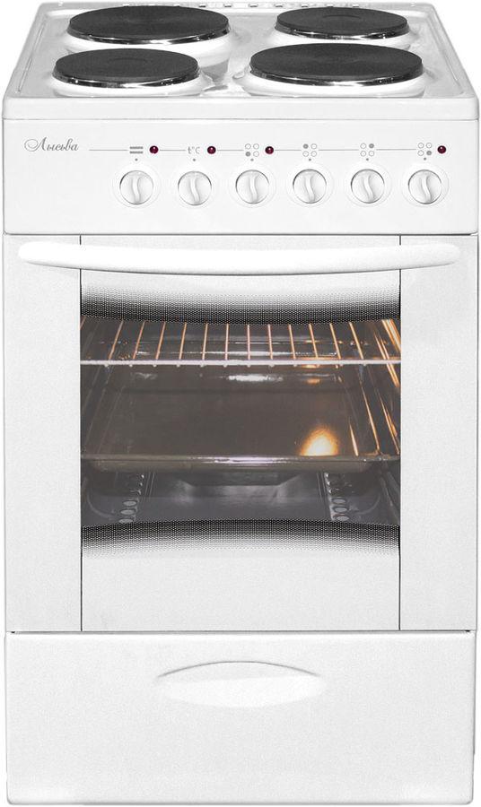 Электрическая плита ЛЫСЬВА ЭП 403 МС,  эмаль,  без крышки,  белый