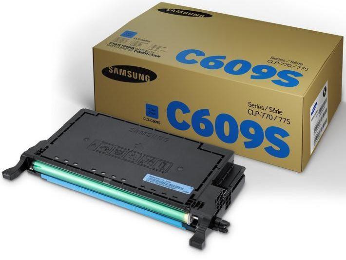 Картридж SAMSUNG CLT-C609S, голубой [su086a]