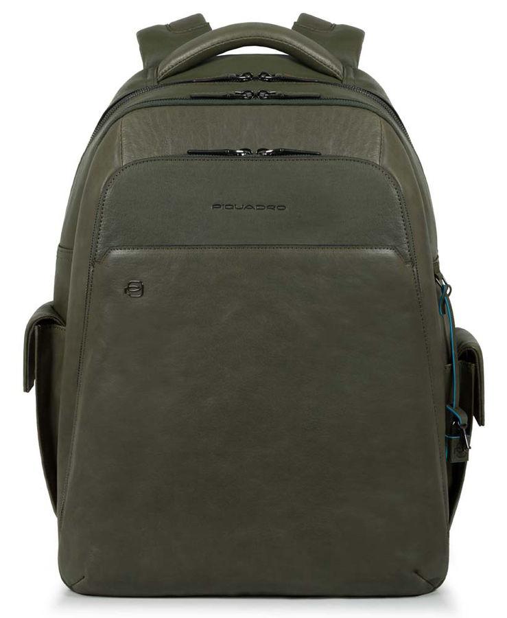 Рюкзак Piquadro Black Square CA3444B3BM/VE зеленый натур.кожа