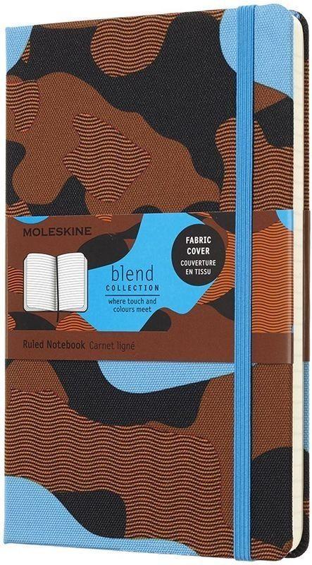 Блокнот Moleskine LE BLEND LGH Large 130х210мм обложка текстиль 240стр. линейка Camouflage blue