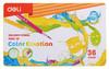 Карандаши цветные Deli EC00235 Color Emotion липа 36цв. мет.кор. вид 1