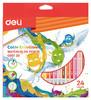 Карандаши цветные акварельные Deli EC00720 Color Emotion липа 24цв. коробка/европод. вид 1
