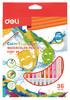 Карандаши цветные акварельные Deli EC00730 Color Emotion липа 36цв. коробка/европод. вид 1