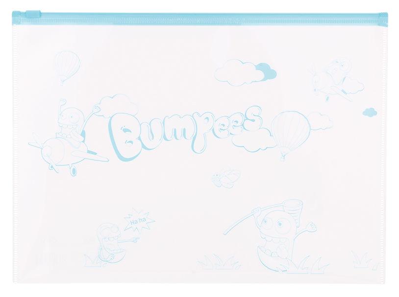 Папка на молнии ZIP Deli Bumpees EZ70102 A4 ПВХ 0.18мм цвет молнии ассорти