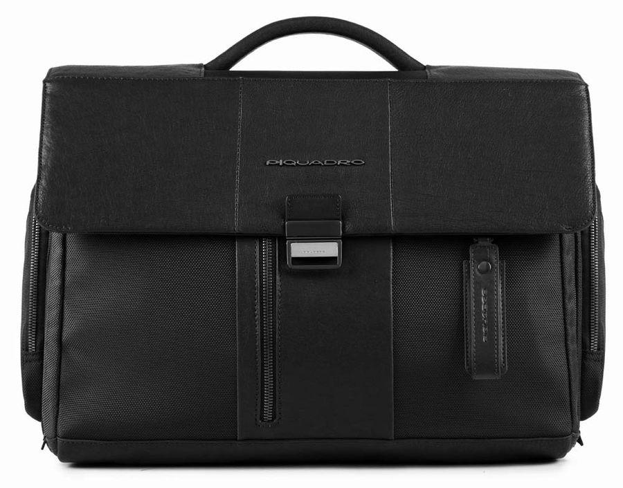 Портфель Piquadro BRIEF CA1045BR/N черный натур.кожа/ткань