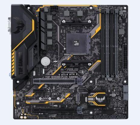Материнская плата ASUS TUF B350M-PLUS GAMING, SocketAM4, AMD B350, mATX, Ret