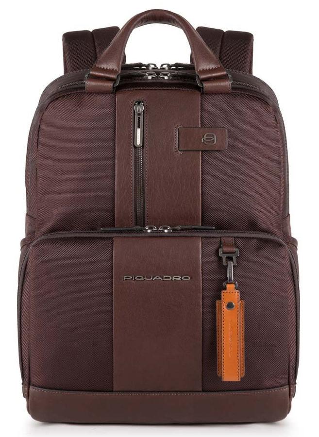 Рюкзак Piquadro Brief CA3975BR/TM темно-коричневый натур.кожа/ткань