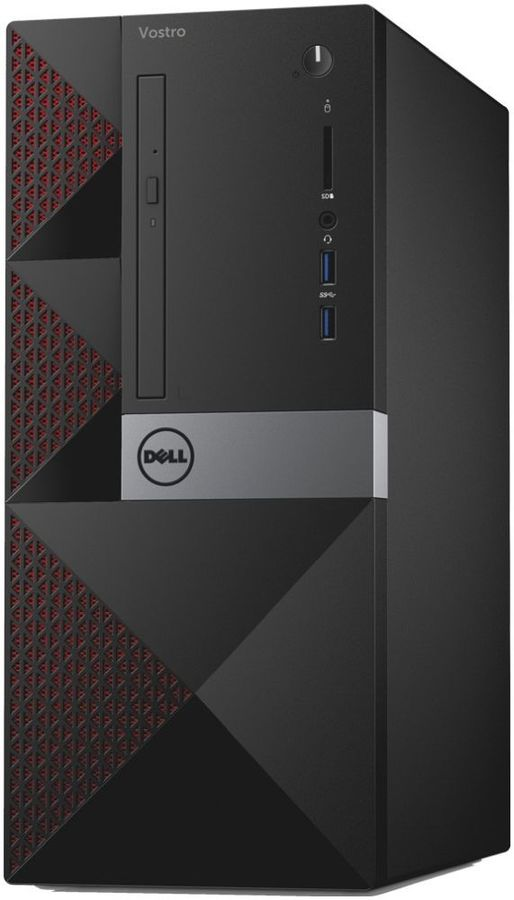 Компьютер DELL Vostro 3668, Intel Pentium G4560, DDR4 4Гб, 1000Гб, Intel HD Graphics 610, DVD-RW, CR, Linux, черный [3668-0276] ноутбук dell vostro 3558 15 6 1366x768 intel pentium 3825u 500 gb 4gb intel hd graphics черный linux 3558 4483