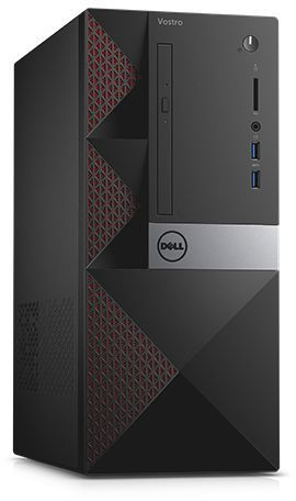 Компьютер DELL Vostro 3668, Intel Core i5 7400, DDR4 4Гб, 1000Гб, Intel HD Graphics 630, DVD-RW, CR, Linux, черный [3668-0344] ноутбук dell vostro 3558 15 6 1366x768 intel pentium 3825u 500 gb 4gb intel hd graphics черный linux 3558 4483