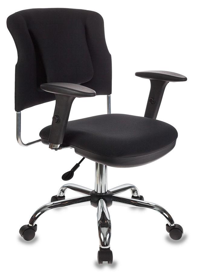 Кресло БЮРОКРАТ CH-323AXSN, на колесиках, ткань, черный [ch-323axsn/b]