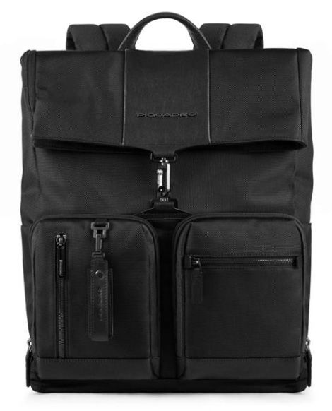 Рюкзак мужской Piquadro Brief CA4533BR/N черный натур.кожа/ткань
