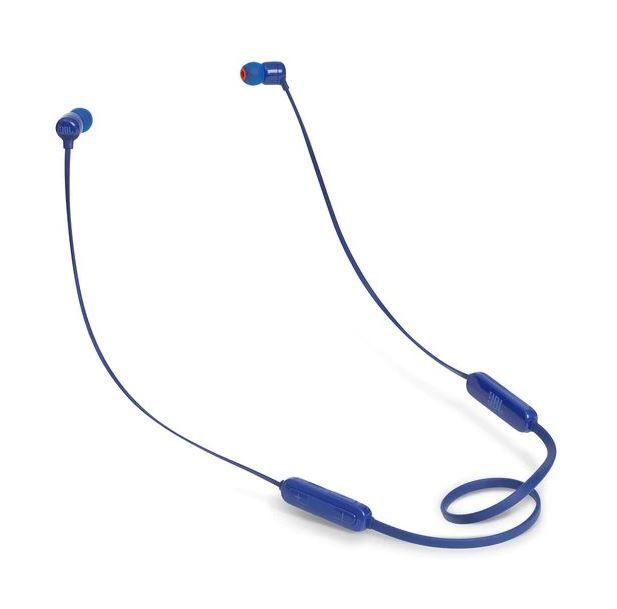 Гарнитура JBL T110BT BLU, вкладыши,  синий, беспроводные bluetooth