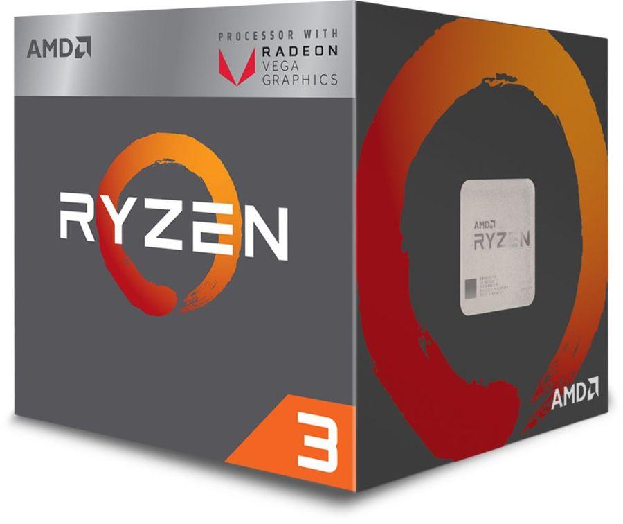 Процессор AMD Ryzen 3 2200G, SocketAM4 BOX [yd2200c5fbbox]