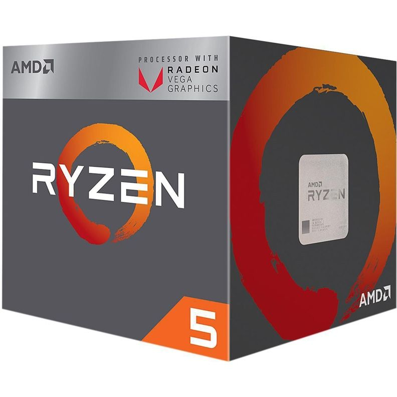 Процессор AMD Ryzen 5 2400G, SocketAM4 BOX [yd2400c5fbbox]