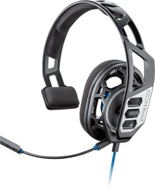 Наушники с микрофоном PLANTRONICS RIG 100HS,  накладные, черный  / синий [209190-05]