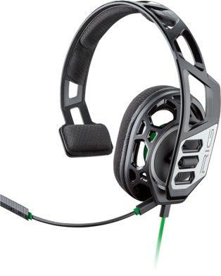 Гарнитура игровая PLANTRONICS RIG 100HX,  для компьютера и игровых консолей, накладные,  черный  / зеленый [209180-05]