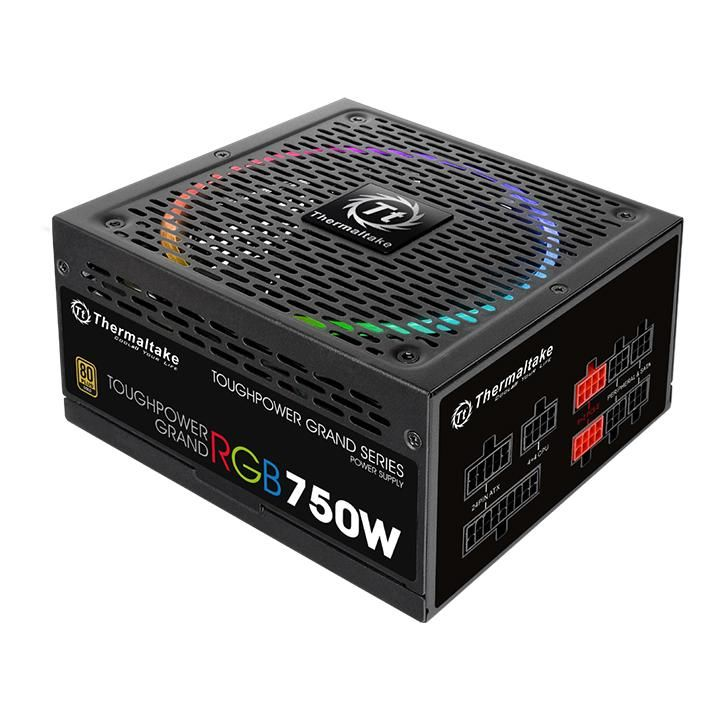 Блок питания THERMALTAKE Toughpower Grand RGB, 750Вт, 140мм, черный, retail блок питания пк thermaltake atx 850w toughpower grand rgb ps tpg 0850fpcgeu r