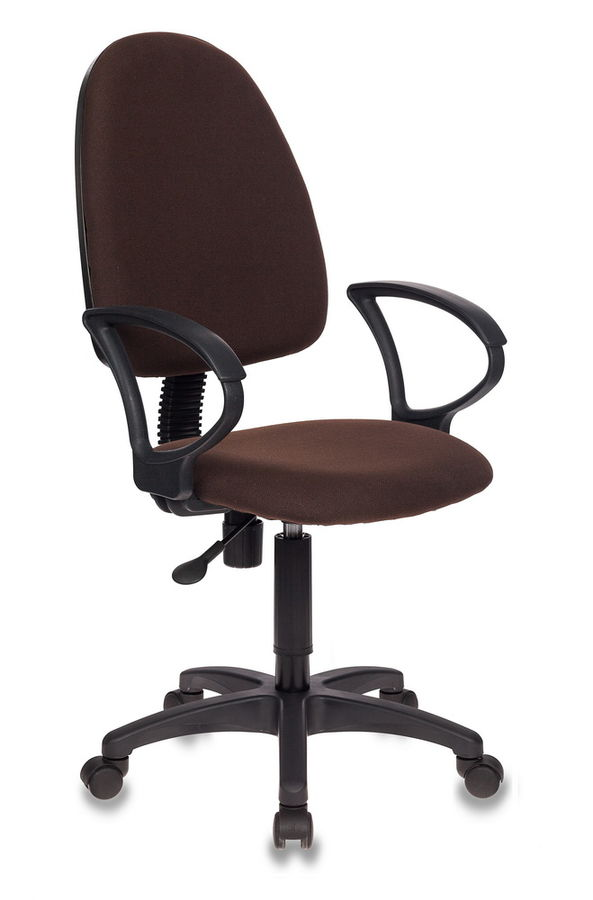 Кресло БЮРОКРАТ CH-1300, на колесиках, ткань, коричневый [ch-1300/brown]