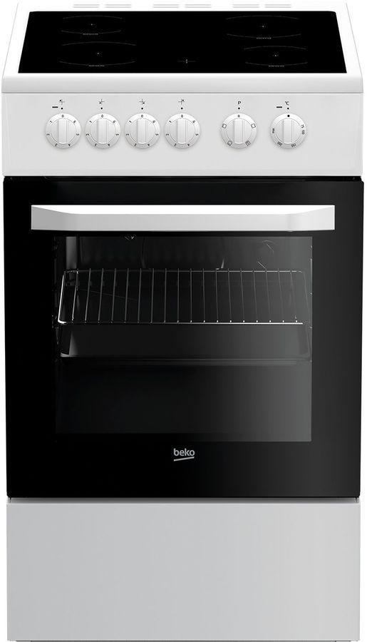 Электрическая плита BEKO FFSS57000W,  стеклокерамика,  белый