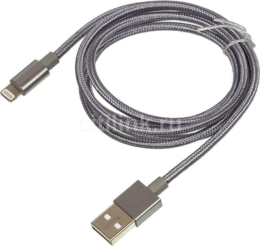 Кабель GINZZU Lightning (m),  USB A(m),  1.2м,  черный [gc-550b]