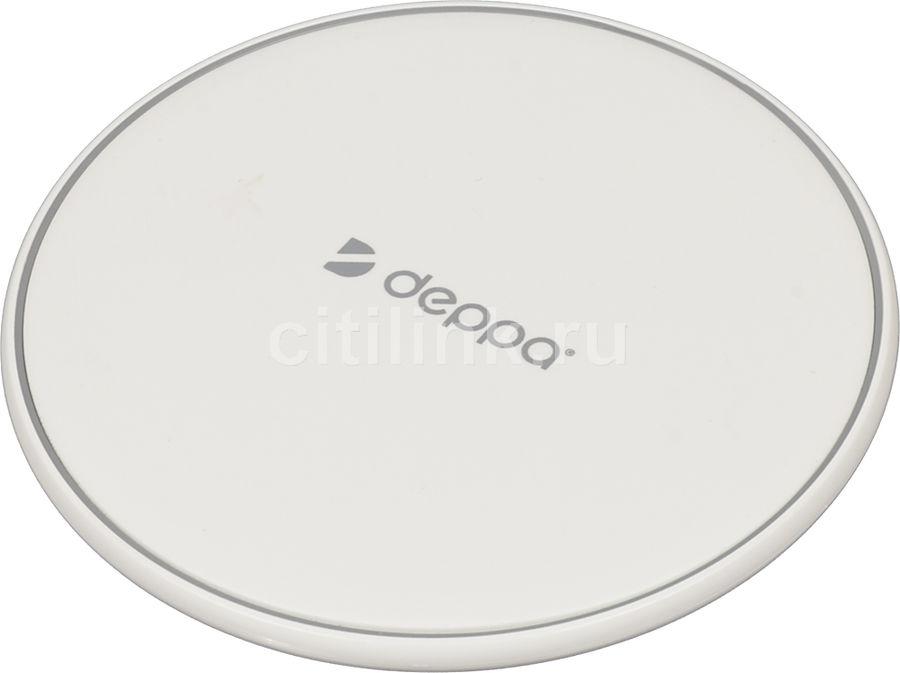Беспроводное зарядное устройство DEPPA Qi Fast,  USB,  microUSB,  1A,  белый