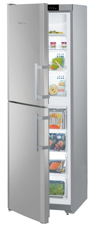 Холодильник LIEBHERR SBNef 3200,  двухкамерный, нержавеющая сталь