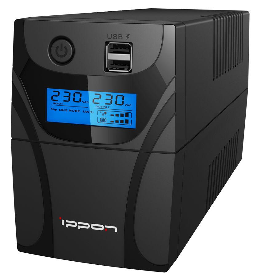 Источник бесперебойного питания IPPON Back Power Pro II 600,  600ВA [1030300]