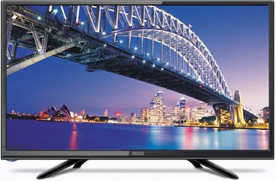 LED телевизор POLAR 55LTV7011 R, 22, FULL HD (1080p), черный пылесос робот polaris pvcr 1012u