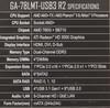 Материнская плата GIGABYTE GA-78LMT-USB3 R2, SocketAM3+, AMD 760G, mATX, Ret вид 9