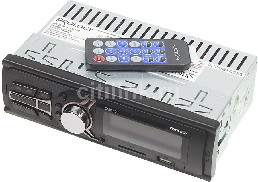 Автомагнитола PROLOGY CMX-120, USB, SD автомагнитола prology cmu 520