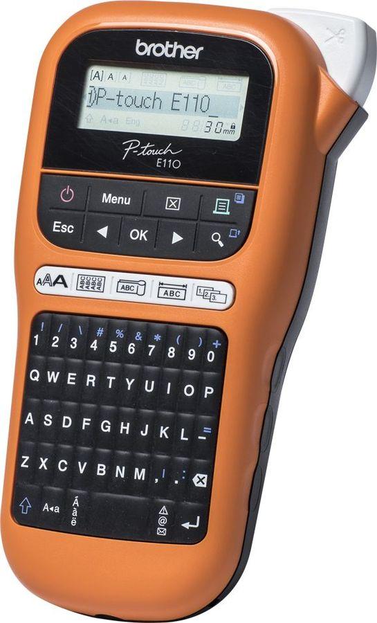 Принтер Brother P-touch PT-E110VP переносной оранжевый/черный