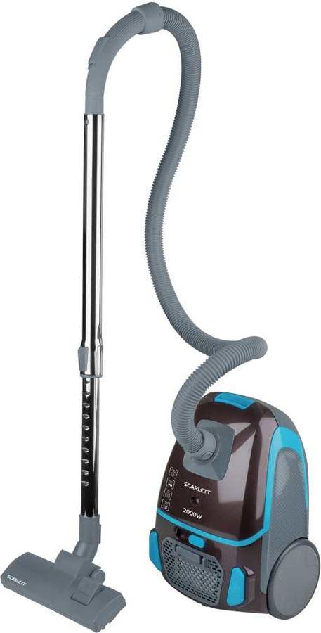 Пылесос SCARLETT SC-VC80B80, 2000Вт, коричневый/голубой