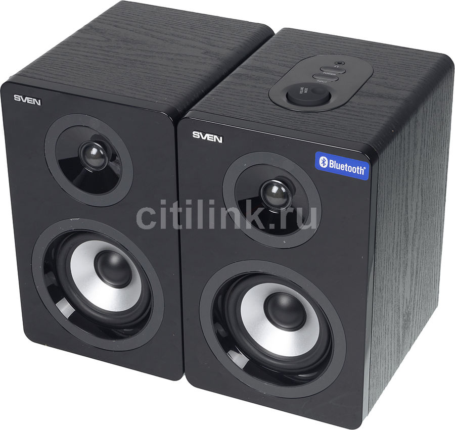 Колонки Bluetooth SVEN SPS-750,  2.0,  черный